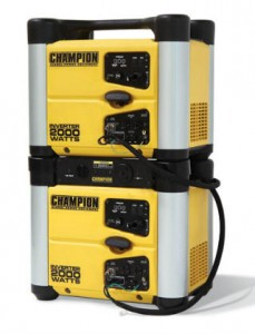 A second Champion 73536i 2000w Inverter Generator can be stacked for more power