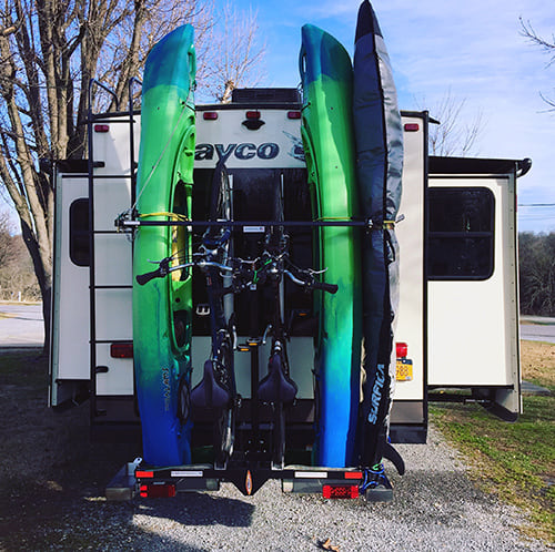 Fifth Wheel Kayak And Bike Racks Fifth Wheel Magazine