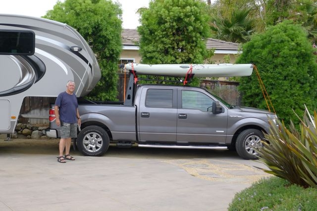 Truck racks for kayaks and accessories