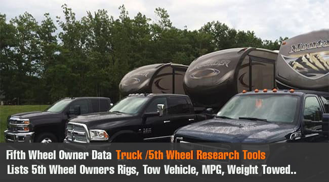 Fifth Wheel Towing Data, trucks and Miles Per Gallon